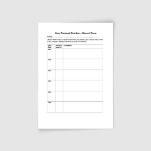 Mindfulness Teacher Register | Practice Record Form